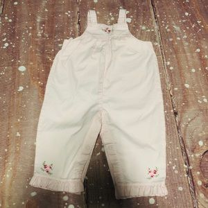 Carter's Pink Floral Cotton Overalls 9 Months